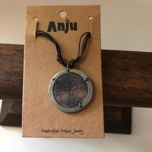 Anju Tree of Life Pewter Necklace New